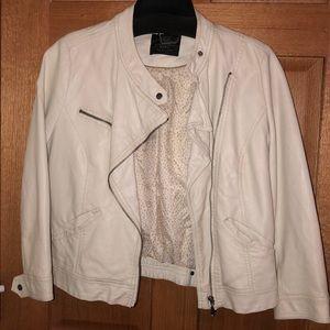 Zara 3/4 sleeve leather faux leather